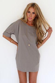 Mocha Tee Dress | SABO SKIRT