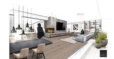 Wohnzimmer - work in progress #innenarchitektur #architektur #wohnzimmer #skizze # einrichtung #design Sweet Home, Patio, Interiors, Inspiration, Outdoor Decor, Design, Home Decor, Sketches, Interior Designing