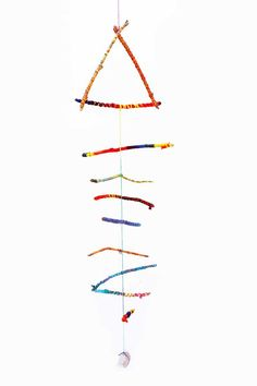 Engineering for Kids: Twirling Twig Mobile. Mobiles are a great demonstration of engineering/physics principles. Read on to find out how.