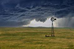 Wyoming grassland storm