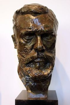 Portrait of Gustave Geffroy, by Auguste Rodin, via Flickr.