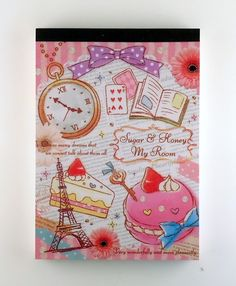 janetstore.com: kawaii stationery,letter sets, stickers, gifts and more - Kamio sugar & honey my room memo pad Japan 4991277140284