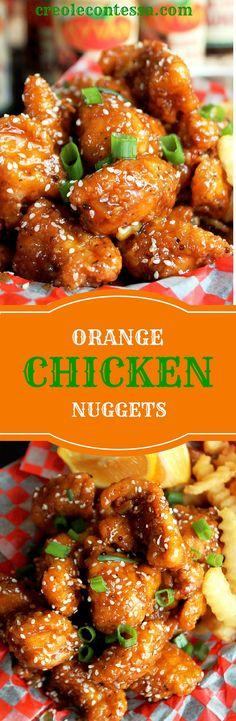 Orange Chicken Nuggets -Creole Contessa