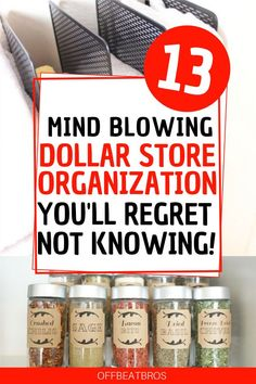 Need an organized home on budget. These dollar store organization ides will help you get an organized home using dollar store items on a budget. Check out these dollar store organization ideas today! #dollarstoreorganization #organizationideas #offbeatbros #dollarstorehacks #organizationtips Dollar Store Hacks, Dollar Store Crafts, Dollar Stores, Bathroom Organization, Organization Hacks, Mind Blown, Budgeting, Check, Creative