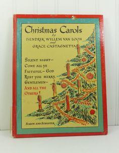Christmas Carols by Hendrik Willem van Loon, Traditional Christmas Songbook by #naturegirl22 on Etsy