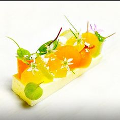 White Chocolate Yogurt Cremeux, Compressed Summer Melons for pre dessert #theartofplating #chefstalk