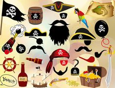 Instant Download Pirate Party Photo Booth Props by OneStopDigital, $6.25