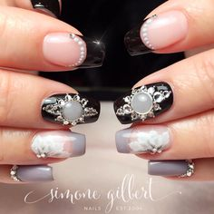 "684 Likes, 25 Comments - Simone Gilbert (@urbanblissbeauty) on Instagram: ""#handpainted #arabesquenailart by @simonelgilbert #biosculpture #biosculpturegel #swarovskinails…"""