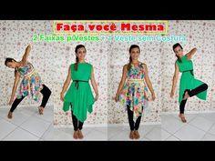DIY-Roupa Sem Costura Blusa (Colete, Capa, Cardigã) 4 modelo em 1 peça - YouTube