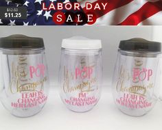 Bev2go Stemless Wine Glass Tumblers with lid and straw, Acrylic Wine Cup, Personalized, Gift, wedding, party favor, event decorations