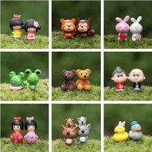 Gnomos de jardim de fadas mini miniaturas de musgo artificial animais terrários jardim diy resina artesanato para casa acessórios de decoração(China (Mainland))
