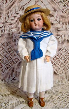 Wiesenthal, Schindel & Kallenberg(WSK)-редкая антикварная девочка / Антикварные куклы, реплики / Шопик. Продать купить куклу / Бэйбики. Куклы фото. Одежда для кукол