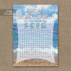 beach theme bridal shower famous couples game digital file in 2018 wedding ideas 6 20 15 pinterest bridal shower bridal and beach bridal