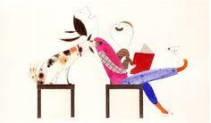 Qué divertida lectura! (Ilustración de Isabel Hojas)
