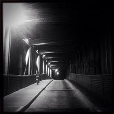 """#streetphotography #photooftheday #bw #blackandwhite #telaviv #bridge"" Photo taken by @actuallymt on Instagram, pinned via the InstaPin iOS App! http://www.instapinapp.com (08/24/2014)"