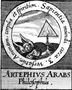 ALQUIMIA VERDADERA: Emblema 21. Artéfius, filósofo árabeDe tres cosas se compone la sabiduría del mundo de alma, cuerpo y espíritu.