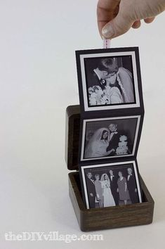 DIY Gift idea: Make up a pop-up photo box with favorite family photos | 40 DIY Holiday Gifts for Absolutely Everyone on Your List|Hometalk