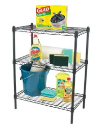 For Living 3 Tier Wire Shelf Black Canadian Tire