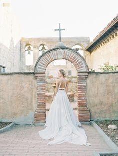 Modern open back wedding dress: http://www.stylemepretty.com/2016/03/25/whimsical-botanical-franciscan-gardens-wedding-inspiration/ | Photography: Valentina Glidden - http://blog.valentinaglidden.com/