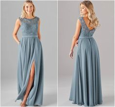 20 Slate Blue Bridesmaid Dresses Worth Obsessing Over - Embroidered lace is the newest trend! We love it in slate blue Slate Blue Bridesmaid Dresses, Grey Bridesmaids, Wedding Bridesmaid Dresses, Wedding Gowns, Embroidered Lace, Dresses Dresses, Blue Dresses, Grad Dresses, Fall Dresses