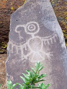 Northwest Thunderbird, petroglyph from Horse Thief State Park, Washington.