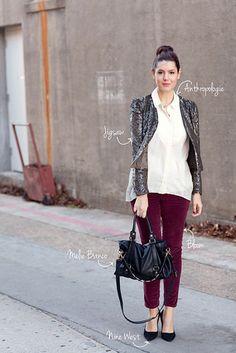 DIVINA EJECUTIVA: #Divitips - ¿Cómo combino mis pantalones borgoña?