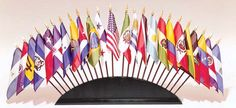 Flag display - idea for international party decoration