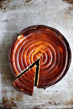Chocolate and ricotta tart