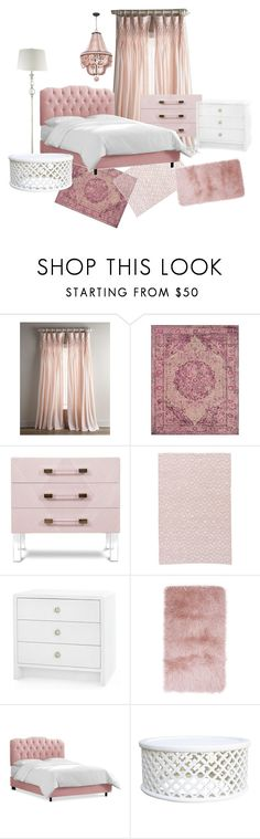 powder pink room by linda-fruit on Polyvore featuring interior, interiors, interior design, home, home decor, interior decorating, Bungalow 5, PBteen and Pom Pom at Home