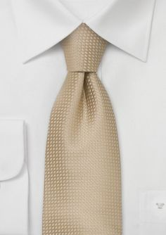 Latte Textured Silk Tie  | Luxe Glamour for your Wedding Day.