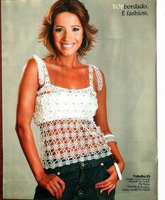 Mania de Tricotar: Blusas de crochê   https://mania-de-tricotar.blogspot.com.br/search/label/Blusas%20de%20croch%C3%AA