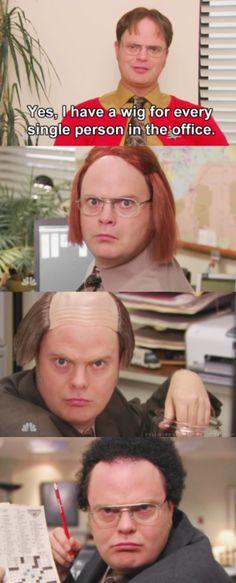 Dwight's wigs