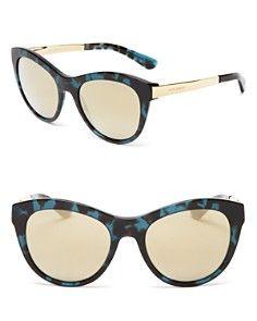 a440096238c Dolce Gabbana Catwalk Mirrored Cat Eye Sunglasses Sunglasses Women  Designer