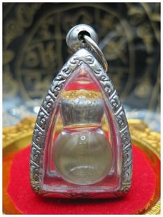 CAVE PEARL WHITE LEKLAI ARAHANT STONE POWERFUL PROTECT LUCKY THAI AMULET SOMPORN