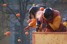 The Battle of the Oranges, Ivrea - Italy