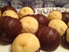 Les Saveurs de Beth - Os Sabores da Beth: Mini Esferas aos dois Chocolates / Mini Sphères aux deux Chocolat