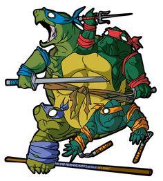 Further mutated mutant ninja turtles (this is sort of creepy).