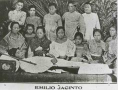 "Emilio Jacinto  Surprisingly, his first and only existing photo was actually his last one.Also known as the ""Brains of the Katipunan"", Emilio Jacinto died of malaria at the tender age of 23. At that time, people in Nueva Ecija were also accustomed to the ritual of taking postmortem photographs."