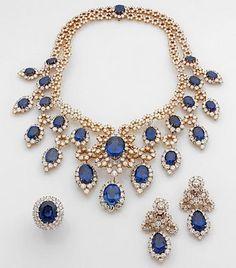 73f47975722e8 Alquimista Jóias  Colar, Brincos e Anel de Safiras Azuis Anéis De Safira  Azul,