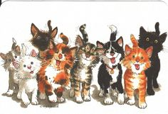 Suzy's Zoo Wags & Whiskers - the Cats The Zoo, Wags And Whiskers, Happy Kitten, Photo Chat, Watercolor Animals, Cat Drawing, Illustrations, Funny Art, Suzy