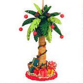 Festive Palm Tree Ornament  border=
