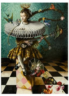Down the Rabbit Hole series:  Song Bird 2014 by Margo Selski