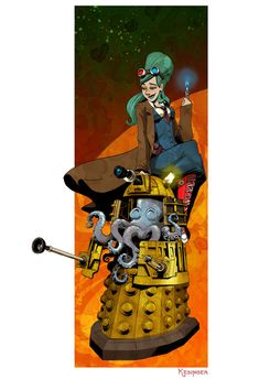 timelord triptych various sizes by BrianKesinger on Etsy