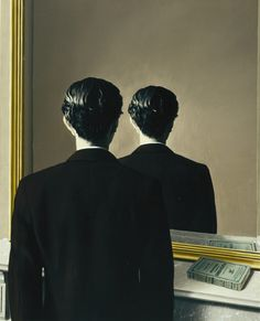 René Magritte: Not to be Reproduced (La reproduction interdite) or 'Portrait of Edward James', 1937. Oil on canvas. Museum Boijmans Van Beuningen, Rotterdam.