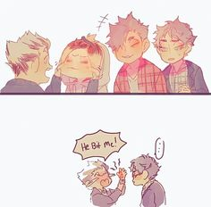 AWWW THAT IS SO CUTE, KENMA YOU ANGRY LITTLE ADORABLE KITTEN .. *cough* umm whoa kenma, you shouldn't have done that, poor bokuto.