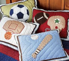 I love the Sports Quilted Decorative Shams on potterybarnkids.com