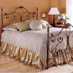 FBG Aynsley Wrought Iron Bed. Not a fan of the bedding, but I like the frame!