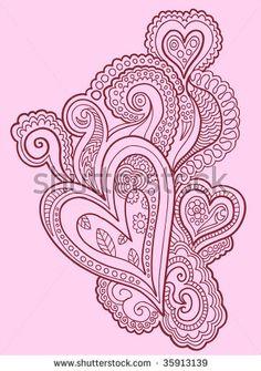 Henna doodle Heart design Vector by MisterElements, via Shutterstock