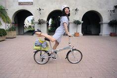 I love my foldable bike! by Tricia Wang 王圣捷, via Flickr