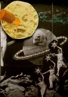 Méliès Diorama. Altered Tin Art Boxes, Tin Art, Altered Tins, Sun Moon, Diorama, Stars, Dioramas, Sterne, Star
